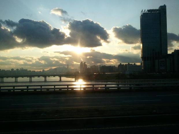 Sunset, Seoul, South Korea, view, travel