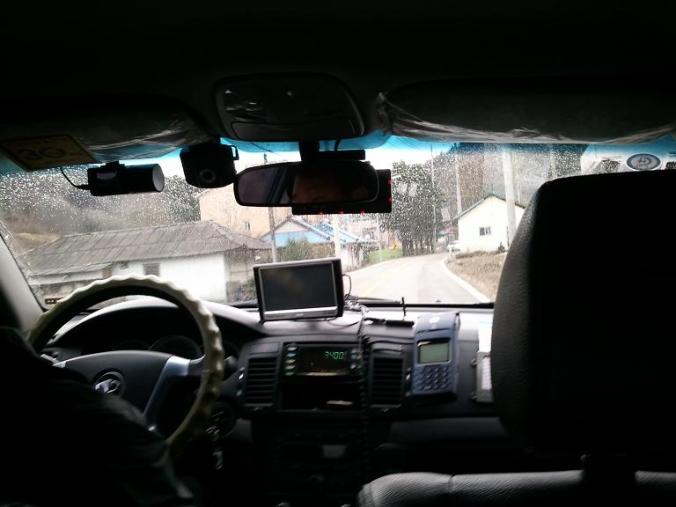 taxi, Korean taxi, Gapyeong, South Korea, driving, driving in Korea, taxi interior