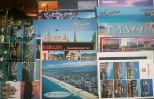 travel, postcards, rtw