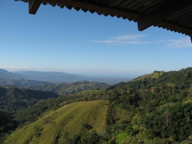 What a great view of the Costa Rican country side and the Pacific Ocean at a distance.