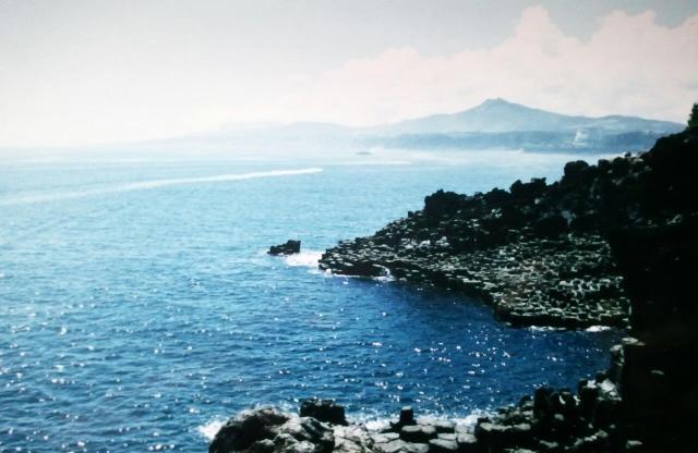 Jusangjeolli Cliffs, Jeju seashore, South Korea, Asia, sea, sky, visit Korea, nature