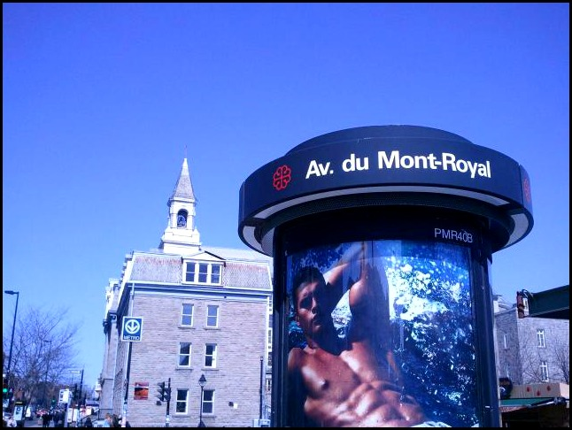 Avenue du Mont-Royal, subway station, métro Mont-Royal, Montreal, Quebec, Canada