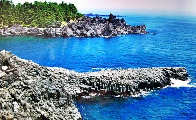 Jusangjeolli Cliffs, Jeju seashore, sea, sky, rock formations, Visit Korea, nature, view
