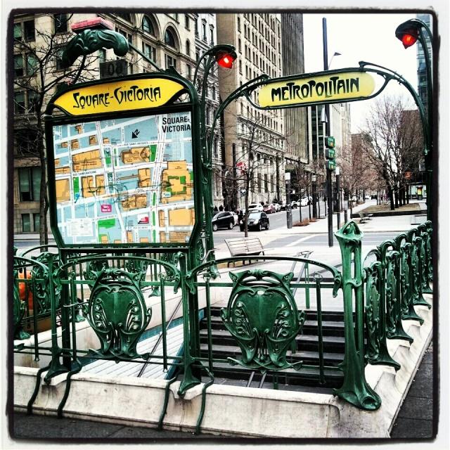subway,  entrance, métro, Square-Victoria, Montreal, Quebec, Canada, travel, transportation