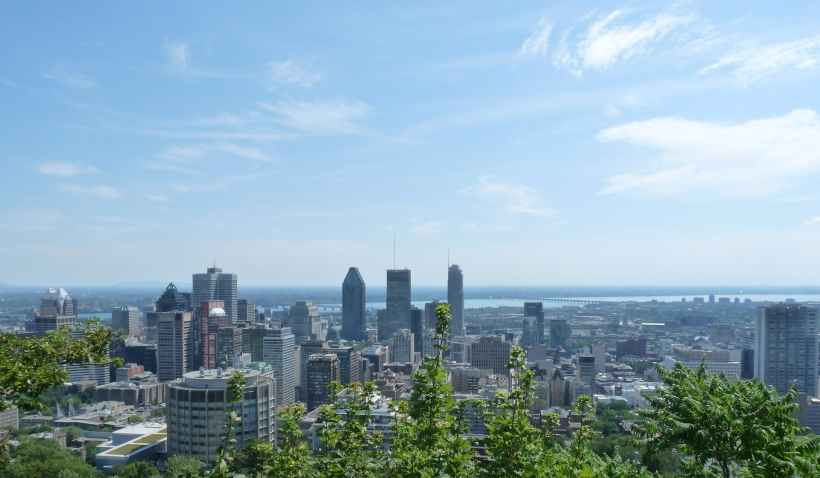 View of Downtown Montreal, Canada