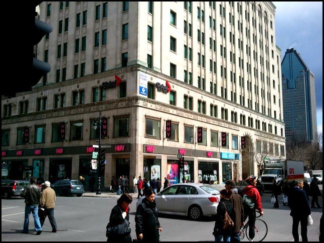 Peel, Ste-Catherine street, Montreal, Quebec, Canada