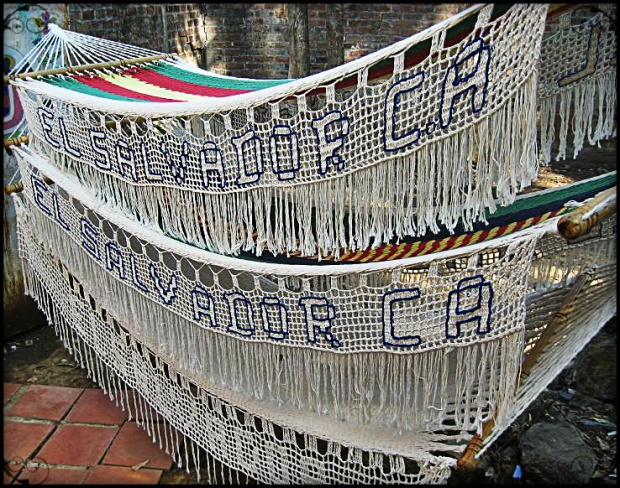 Handmade hammocks for sale in La Palma, El Salvador