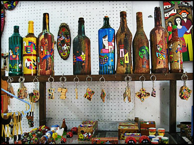 handicrafts for sale in La Palma, El Salvador