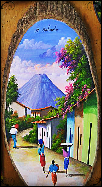 Painting on wood sold in La Palma, El Salvador