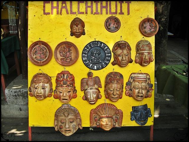 Masks, Mayan Masks, El Tazumal