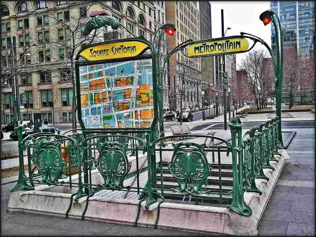Subway Entrance, Square Victoria, Montreal, Parisian Subway Entrance in Montreal