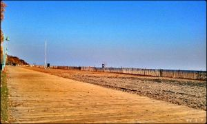 boardwalk, sand, the beaches, toronto, ontario, blue sky, walk