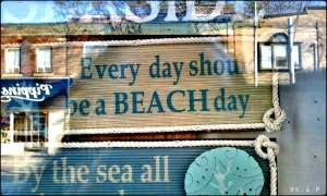 quote, beach, everyday, sign