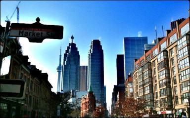 Front street, Toronto, Ontario, St Lawrence Market, building, city, skyline