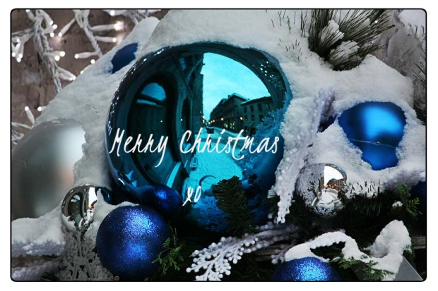 christmas, decorations, wishes, christmas wishes, blue, reflection, holidays, holiday season