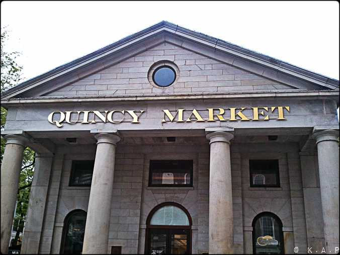 quincy market, boston, massachusetts, new england, building, columns