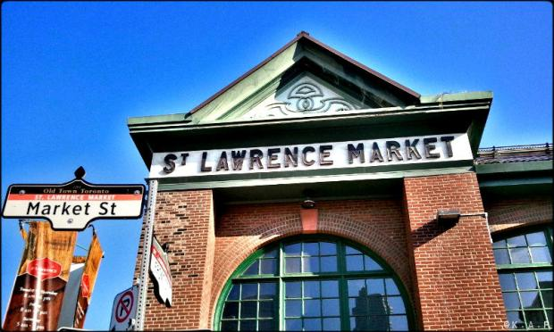 toronto, ontario, st lawrence market, front street, food market