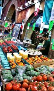 toronto, ontario, st lawrence market, front street, food market. fruits. vegetables, fresh produce