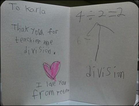 thank you card, math, cute, teaching
