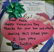 valentine's day, thank you note, sweet, teaching