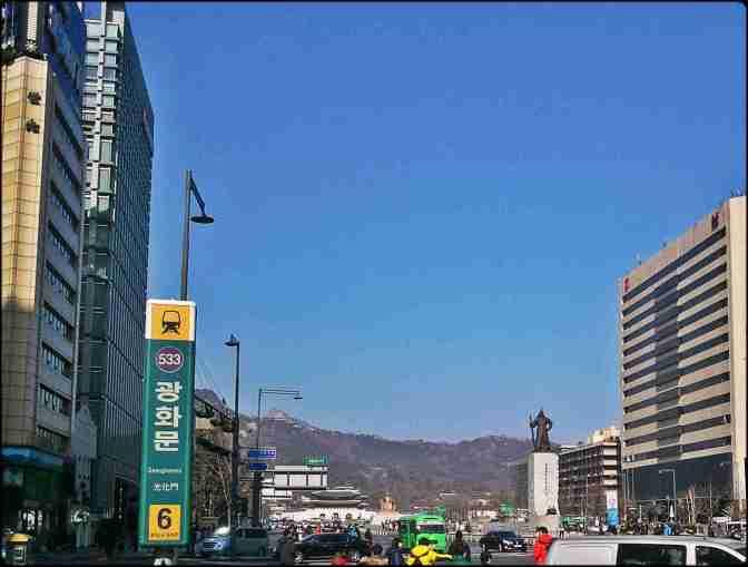 Seoul, Ganghwamun, downtown Seoul