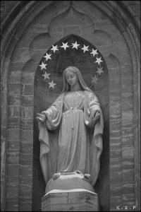 virgin Mary, vierge Marie, old montreal, vieux montreal, basilique notre-dame, notre-dame basilica