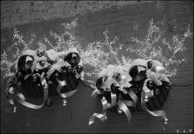 xmas decor, old montreal, vieux-,montreal, décoration de Noël