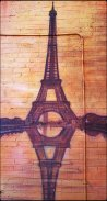 Mural, art, kensington market, Paris, Eiffel Tower