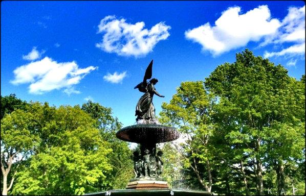 Trees, Bethesda Fountain, Central Park, NYC, NY