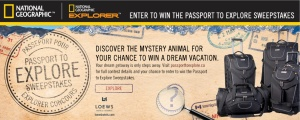 Passport to Explore, Passeport pour Explorer, National Geographic Banner, Contest, NatGeo, National Geographic, National Geographic Explorer, sweepstakes