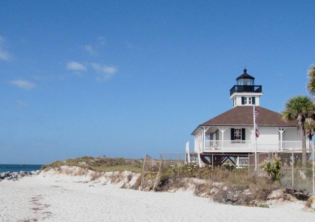 Bike tour, Boca Grande Lighthouse, Boca Grande, Charlotte Harbor and the Gulf Islands, Florida, Discover USA, travel