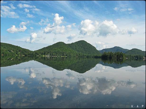 Lac Supérieur, Superior Lake, Laurentians, Quebec, Canada, Lakes, Lacs, Laurentides, Mountains, Montagnes