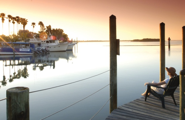 Pier Sunrise, sunrise, Charlotte Harbor and the Gulf Islands, Florida, USA, Discover USA, Travel, Photography