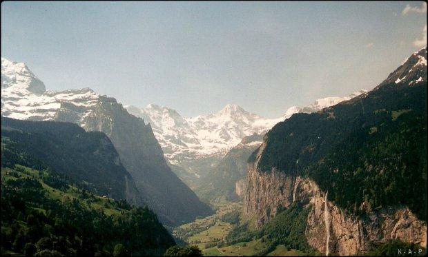 Switzerland, Schweiz, Suisse, Lauterbrunnen, Staubbach Falls, Mountains, Nature, View, horizon