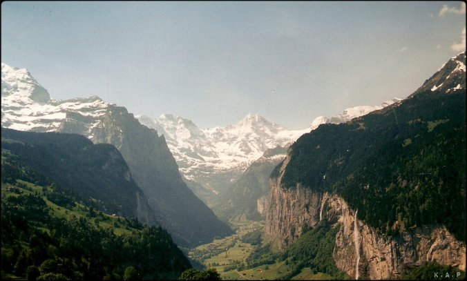 Switzerland, Schweiz, Suisse, Lauterbrunnen, Staubbach Falls, Mountains, Nature, View, horizon