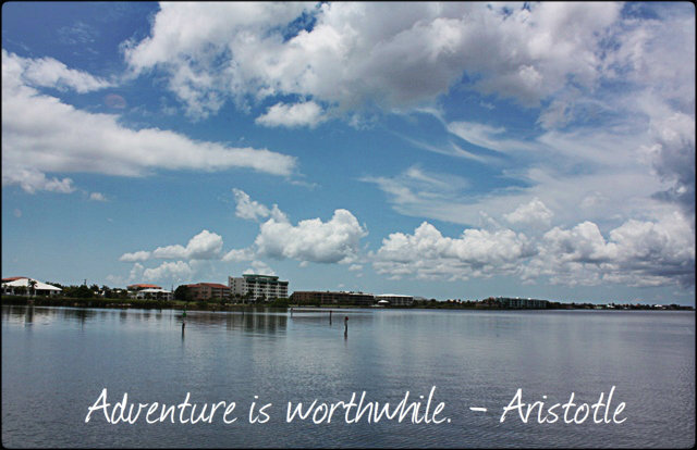 Punta Gorda, Charlotte Harbor, SW Florida, Sky, Water, Horizon, Travel, Quote