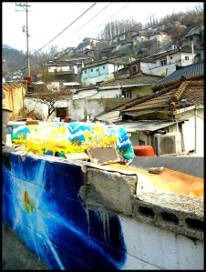 Gaemi Maeul, Ant Village, Seoul, South Korea, Art, Colorful wall, photography