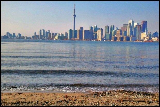 skyline, horizon, travel, photography, downtown Toronto, Ontario, Canada, Toronto Islands, architecture, buildings, view, Lake Ontario, waves
