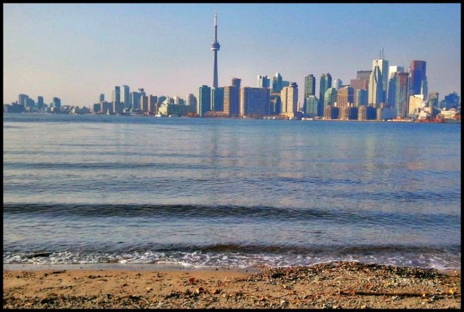skyline, horizon, travel, photography, downtown Toronto, Ontario, Canada, Toronto Islands, architecture, buildings, view, Lake Ontario, waves
