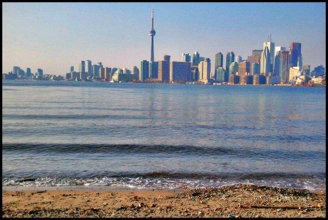 downtown Toronto, Ontario, Canada, Toronto Islands, architecture, buildings, view, Lake Ontario