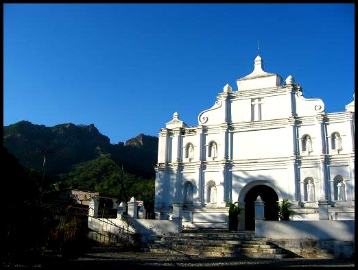 Panchimalco, El Salvador, Central America, architecture, church, mountain, view