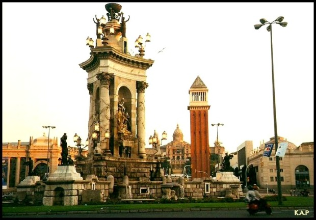 Plaza Espanya, Barcelona, Spain, Catalunya, travel, Montjuic, photography