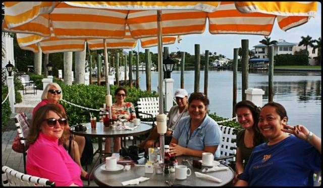 journalists, Outlet Restaurant, outdoor,  Boca Grande, Charlotte Harbor, SW Florida, Florida, CHGIFL