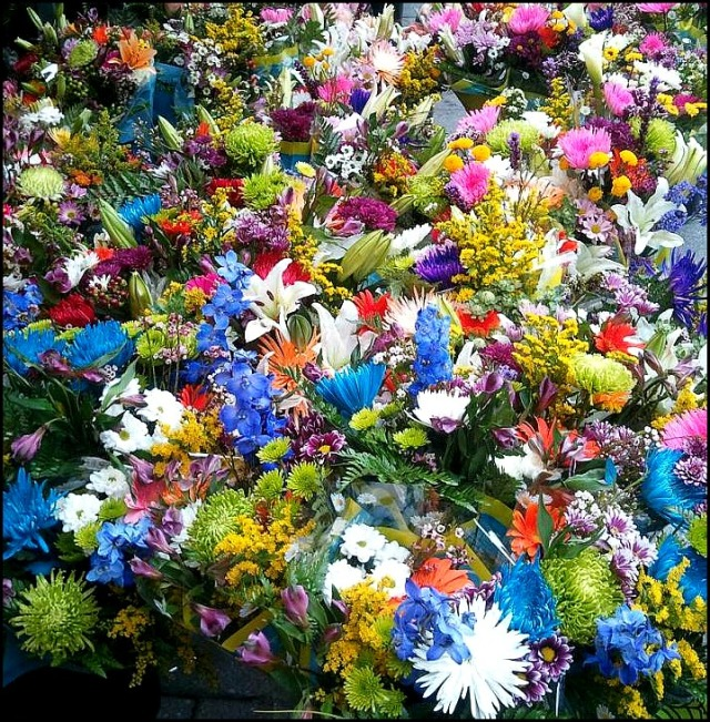 flowers, flower shop, colorful flowers, outdoor flower  stand, flowers galore
