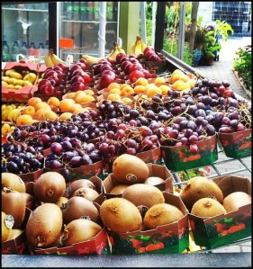 fruits, fresh fruits, fruit stand, outdoor fruit stand