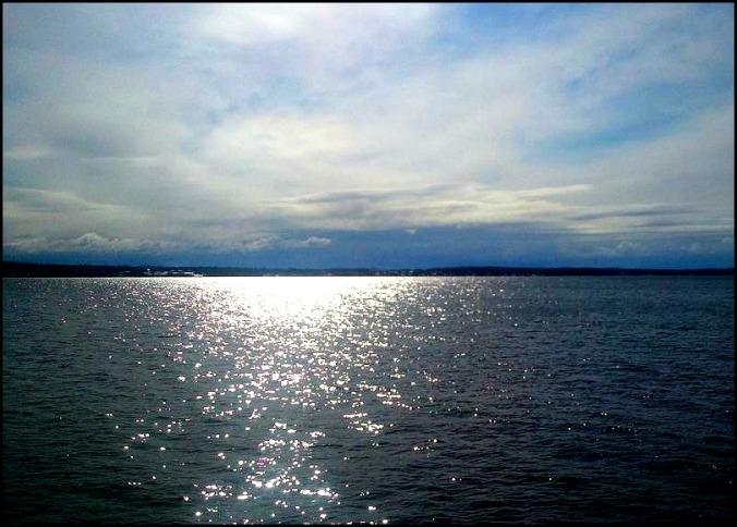Lake, Lake Champlain, New York, Vermont, Upstate New York, open water, reflection, freedom, ferry
