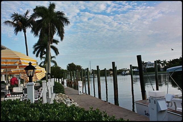 Outlet Restaurant, outdoor,  Boca Grande, Charlotte Harbor, SW Florida, Florida, View