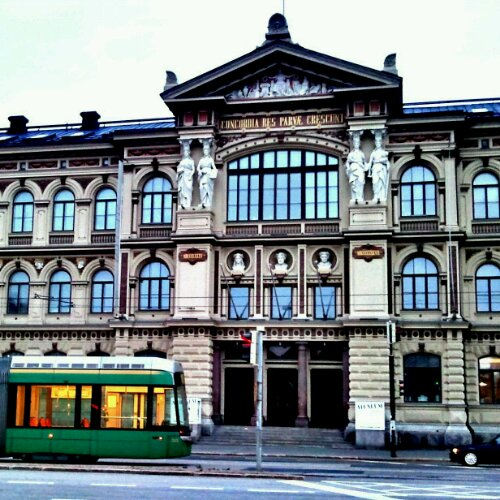 Atheneum museum, Helsinki, Finland, architecture, museum,  photography, travel, street car