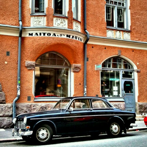 Volvo, architecture, colors, Helsinki, Finland, travel, tourism, photography, Volvo, car