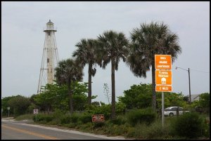 road sign, Boca Grande Bike Path, nature, outdoors, Boca Grande, Gasparilla Island, Charlotte Harbor, SW Florida, FL